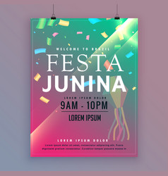 festa junina flyer template for brazilian festival vector image