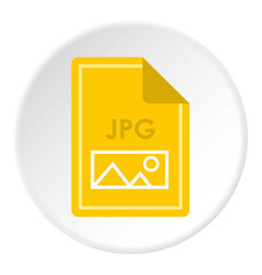 File jpg icon circle vector