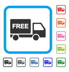 free delivery car framed icon vector image