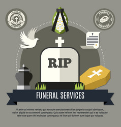 Funeral services concept vector