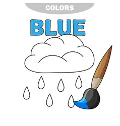 Funny rain weather to be colored coloring book vector