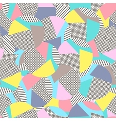 Geometric memphis backgroundRetro design for vector image