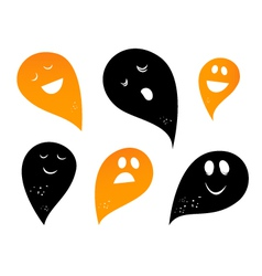 ghost silhouettes vector image