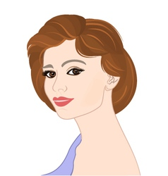 Girl-with-brown-hair-portrat vector image