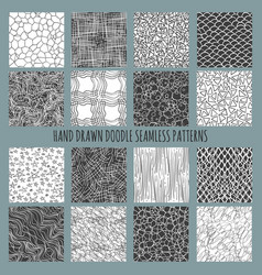 Hand drawn doodle thin line patterns vector
