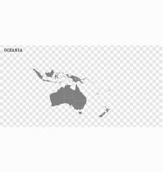 High quality map oceania vector