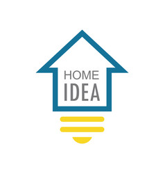 home idea logo vector image