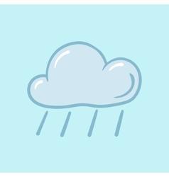 icon rain vector image