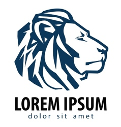 lion logo design template company or vector image