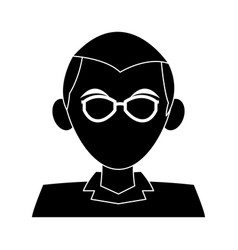 Man with glasses icon image vector