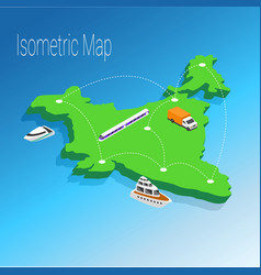 map india isometric concept vector image