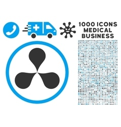 Map Pointers Icon with 1000 Medical Business vector image