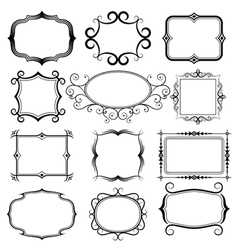 ornate frames set vector image