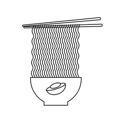 outline style japanese famous soup vector image