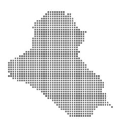 pixel map of iraq dotted map of iraq isolated on vector image