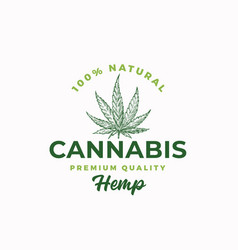 premium quality hemp cannabis abstract vector image
