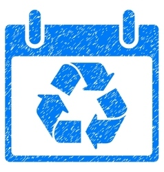 Recycle Calendar Day Grainy Texture Icon vector