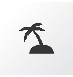 sand with palm icon symbol premium quality vector image
