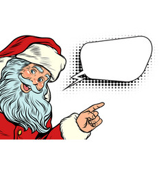 Santa claus pointing to copy space vector