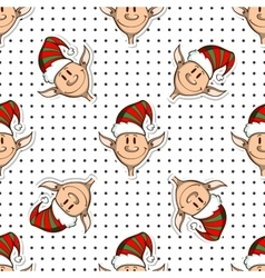 Seamless Pattern Funny Elves vector image