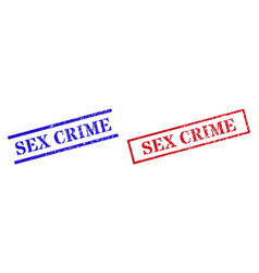 Sex crime textured scratched stamp watermarks vector