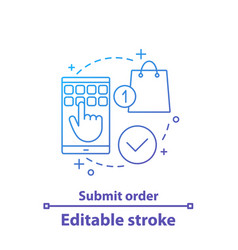 Submit order concept icon vector