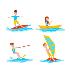 summer and sport collection vector image