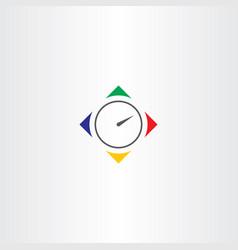 Timer icon logo symbol vector