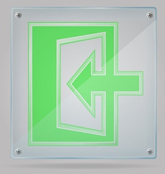 Transparent sign exit on the plate 02 vector