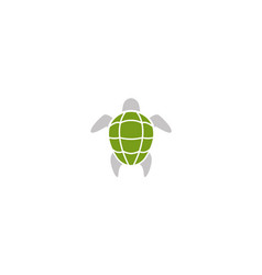 turtle green shell swimming logo design vector image