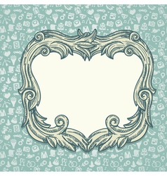 vintage background with wedding ans love icons vector image