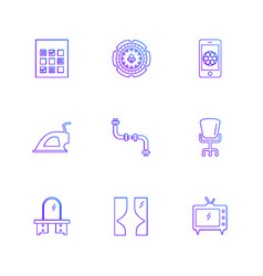 Wifi infrared household electronics eps icons vector