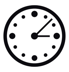 Big wall clock icon simple style vector image vector image
