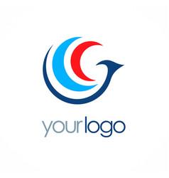 bird fly abstract logo vector image vector image