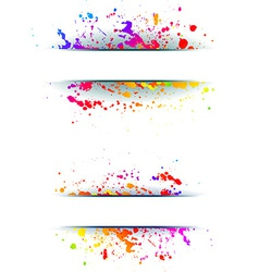 Colorful grunge backgrounds vector image