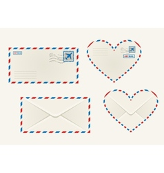 Different airmail envelopes vector image vector image