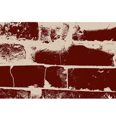 Distressed Brick Texture vector image vector image