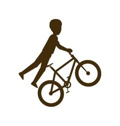 One bike sport vector