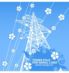 tower pole vector image