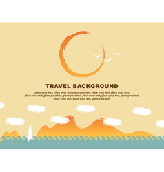 background travel vector image vector image