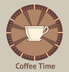concept of coffee breaks vector image