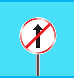 Do not go straight sign vector image vector image