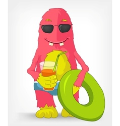 Funny Monster Beach vector image vector image