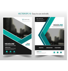 green annual report brochure design vector image