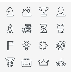 Business fun game or gamification icons vector image