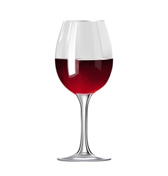 Glass of red wine isolated vector image