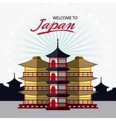 Japan culture and landmark design vector