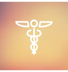 Medical Symbol thin line icon vector image