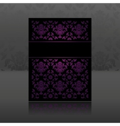 Pattern ornament floral lilac vector image
