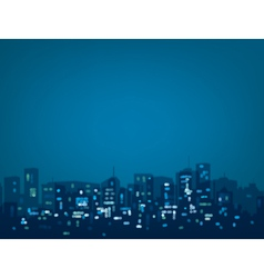 blue night city vector image vector image